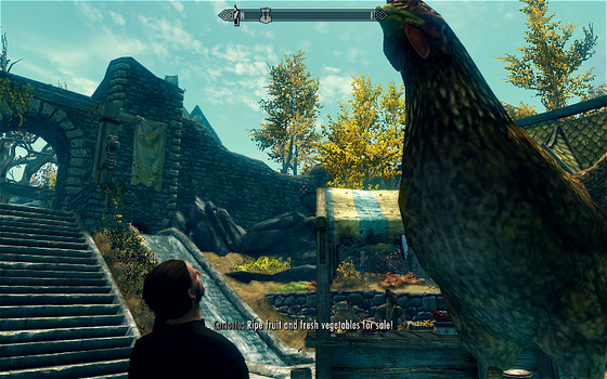 Lucien Lachance spots a giant chicken by STAR7LUCIA