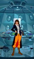 Sarah Jane Smith in Tardis by markdominic