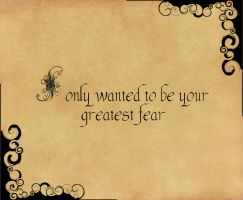 Be Your Fear by Apyxinde