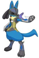 Knight of the Aura, Lucario by SkyminHAZBOZ
