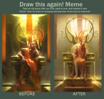 Before and After Meme: God King by DM7