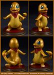 Commission : Shiny Charmander - Ready for Battle! by emilySculpts
