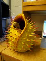 Spikey Plant Sculpture by ShaadoDaWolf