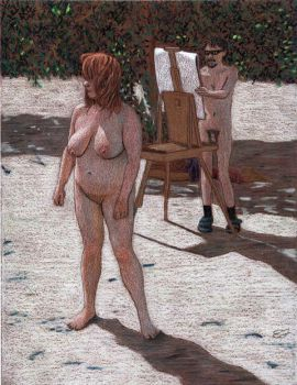 Nude Figure Drawing by phydeau