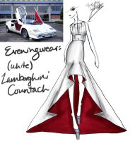 (White) Lamborghini Countach by GL-Gloria