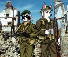 D-Day heroes (coloured) by RaynalJacquemin