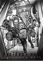 Resident Evil 5 (sketch) by Bing-Ratnapala