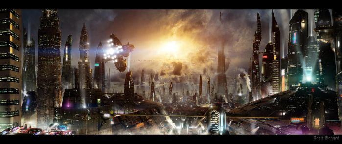 Futuristic City 3 Updated Background By Rich35211- by kikiaryos