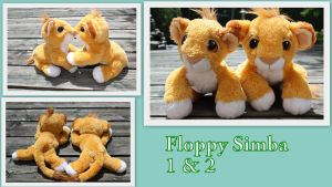 Floppy Simba 1 and 2 by Laurel-Lion