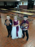 Football Carriers and Crown Barer Homecoming 2015 by bethanygarrett