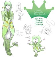 Serperior Gijinka Sheet by lyvli5