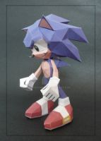 Sonic the Hedgehog Papercraft by PaperBuff