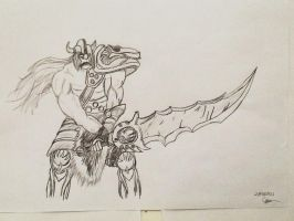 Tryndamere the Barbarian King by SighsOnWindyDays