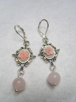 VICTORIAN PINK ROSES CAMEO V2 by kickthebucket