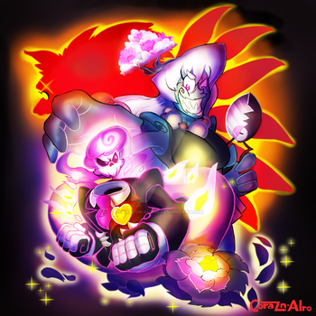 Mystery Skulls Lewis vs Shiromori by Corazon-Alro4