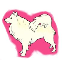 American Eskimo Doggy by Meelanya