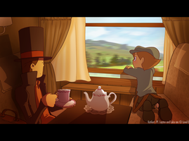 Professor Layton - The train by Katikut