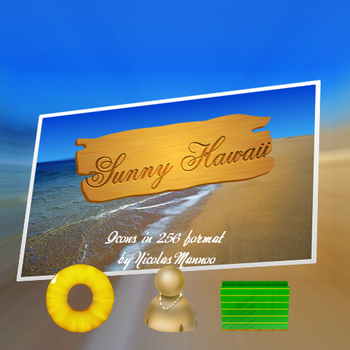 Sunny Hawaii Icon Pack by SymbioteRider