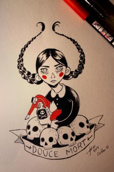 Wednesday Addams by Irina-Hirondelle