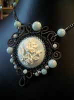 Poppy Cameo Necklace by BacktoEarthCreations