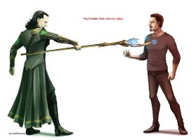 The Avengers - Loki x Tony Stark by maXKennedy