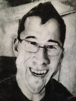 Mark Fishbach Charcoal Portrait by hayy1