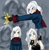DMC- OC -Eevee Character Study by Raven-the-White