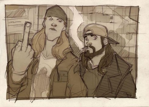 Jay and Silent Bob by DenisM79