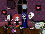 Ruby Gloom main characters by AlexStiff