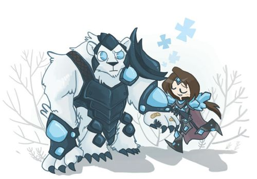 Taric and Volibear by inkinesss