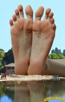 Giantess Katherina at the lake by lowerrider