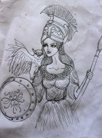 Unfinished Athena by chaosqueen122