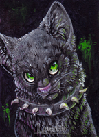 Black Cat ACEO (for Sale) by Lunakia