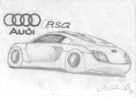 Audi RSQ Concept drawing by Jannomag