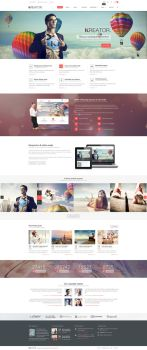 Kreator. Fresh and Creative PSD Template by pixel-industry