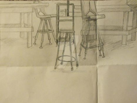 Technical drawing- classroom by YourYoureYouAre