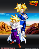 Trunks SSJ2 and Gohan SSJ SCG by Seiya-Dbz-Fan