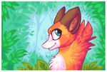 Among the leaves by griffsnuff