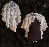 ivory lace cloak, Somnia Romantica by M. Turin by SomniaRomantica