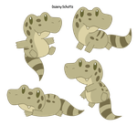 Chibi Broad-snouted Caiman by Daieny