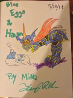 Blue Eggs and Ham cover by minajruby101