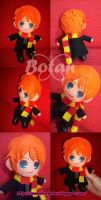 chibi Ron Weasley plush version by Momoiro-Botan