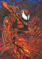 Carnage Personal Sketch Card by AHochrein2010