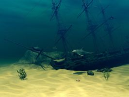 Sunken Ship by Moonchilde-Stock
