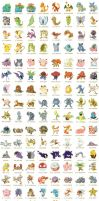 150 Pokemon by AngeroX