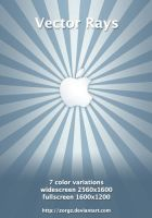 Apple Vector Rays by ZorgZ