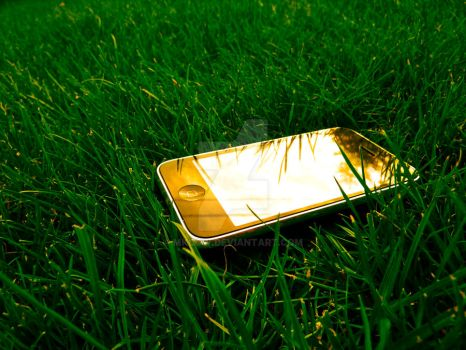 iPhone on a meadow by MKCOW