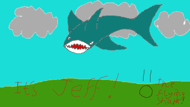 Its Jeff the flying shark! by Chocolatedragon-fly