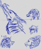 Blue Pen Doodles by ForrestFoxes