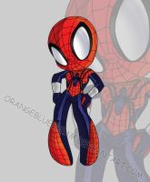 Spidergirlchibi by OrangeBlueCream